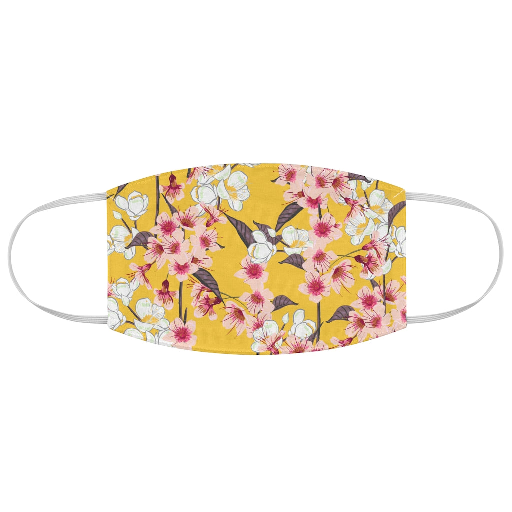 Cherry Bright Blossoms Jersey Knit Face Mask