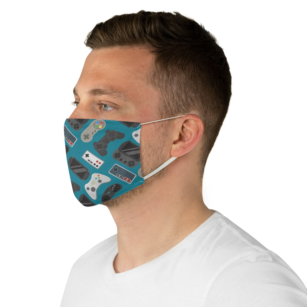 Gamer Controllers Jersey Knit Face Mask
