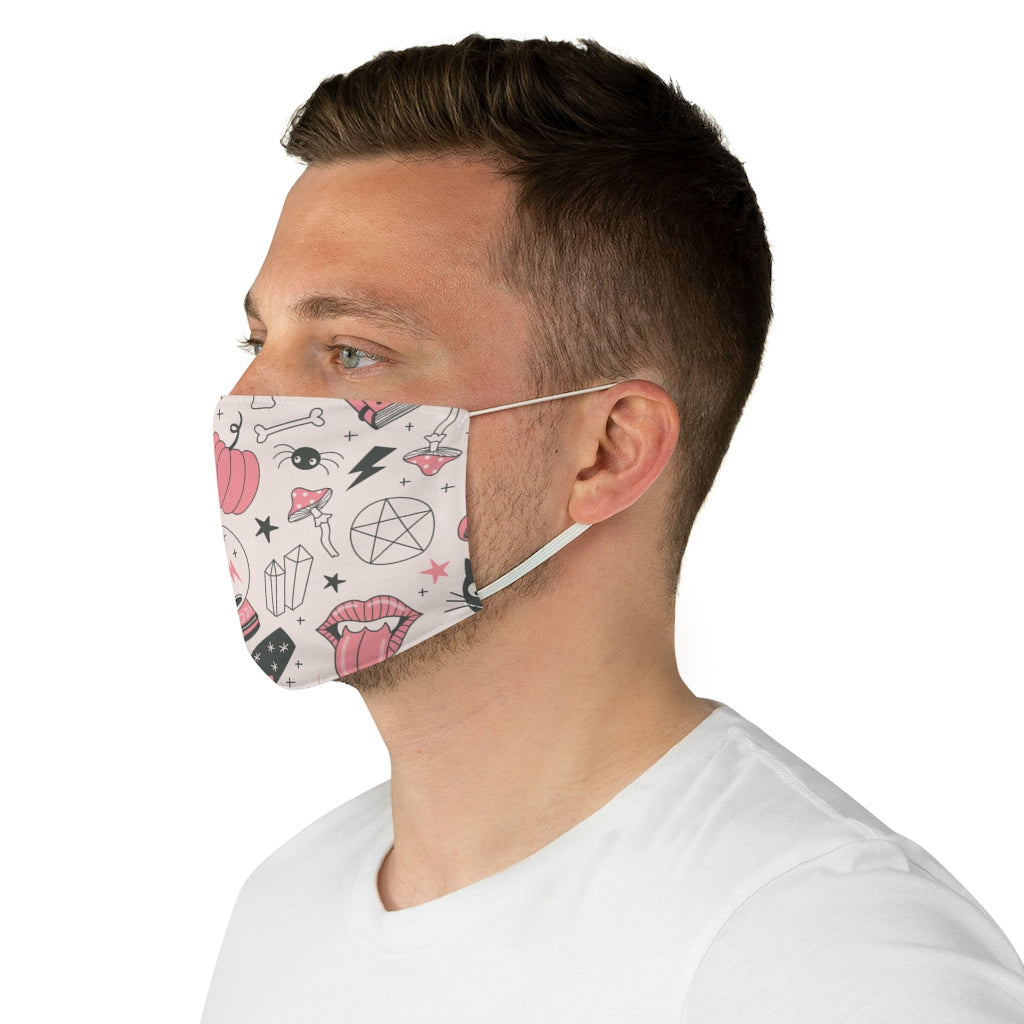 Cute Black Magic Jersey Knit Face Mask