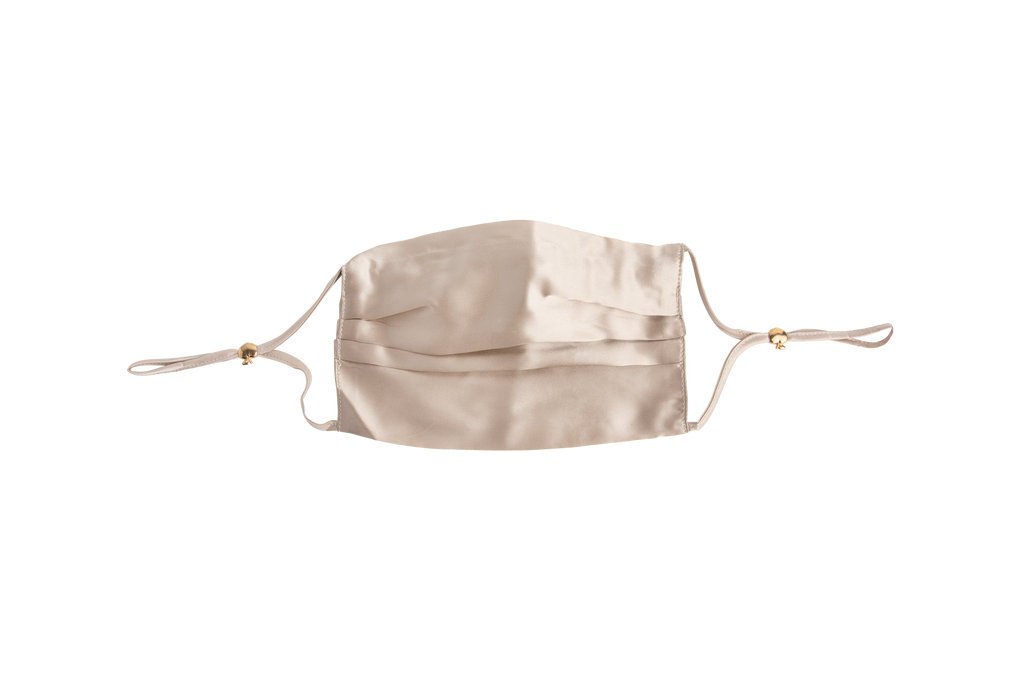 100% Mulberry Silk Face Mask with Filter Pocket and Nose Wire