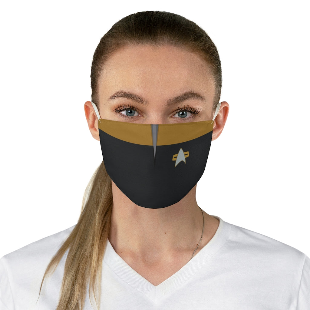 Star Trek Voyager Operations Style Jersey Knit Face Mask