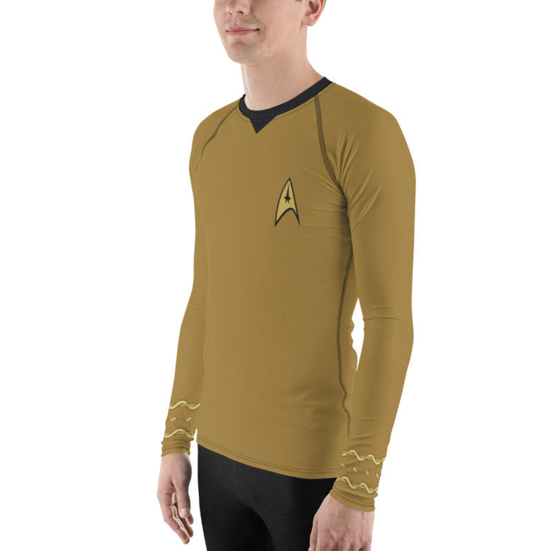 Star Trek Original Series TOS Kirk Style Rash Guard 40UPF