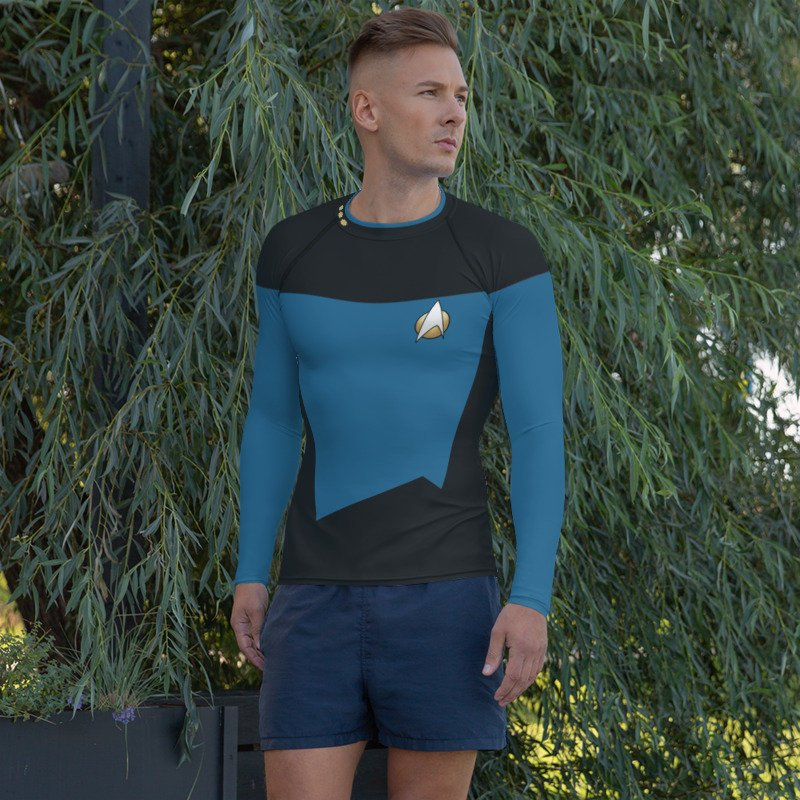 Star Trek Next Generation Science Style Rash Guard 40UPF