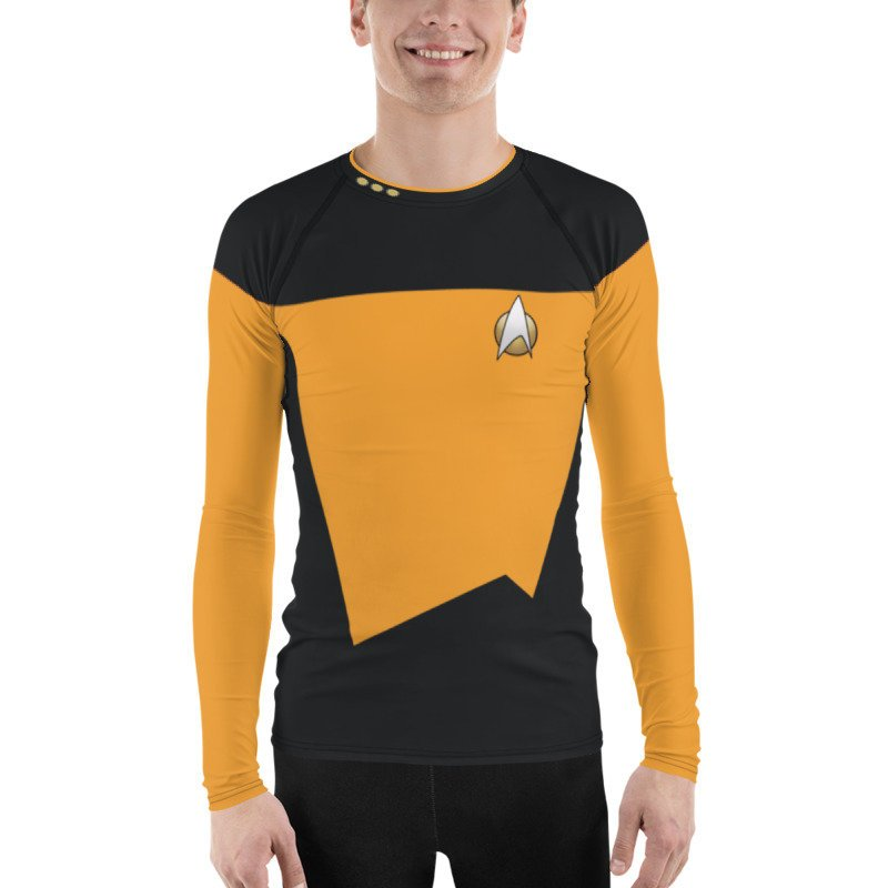 Star Trek Next Generation Operations Style Rash Guard 40UPF