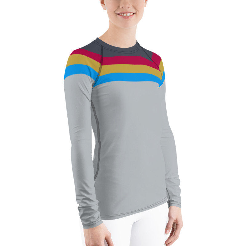 Suit Up, Wesley! Star Trek Next Generation Style Rash Guard 40UPF
