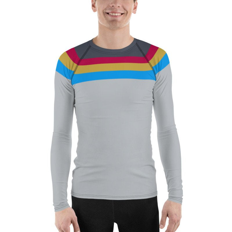 Suit Up, Wesley! Star Trek Next Generation TNG Rash Guard 40UPF