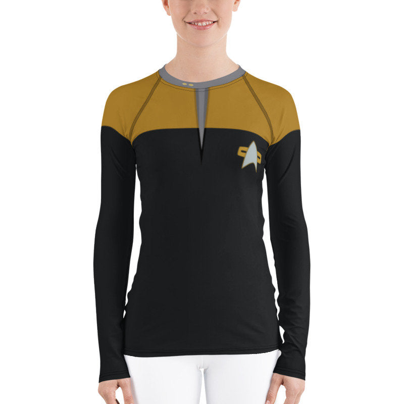 Star Trek Voyager/Deep Space 9/TNG Operations Style Rash Guard 40UPF
