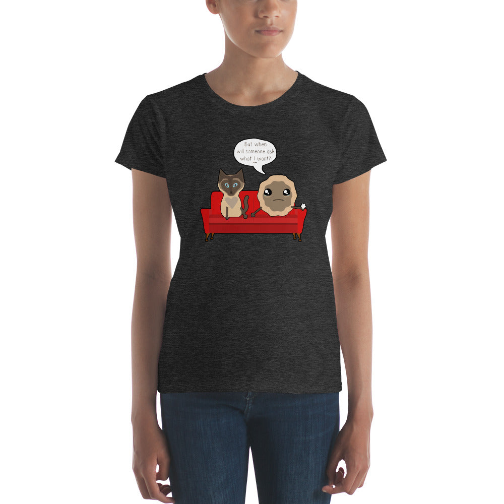 Elvis, Want a Cookie? My Favorite Murder Therapy Women's Short Sleeve T-shirt
