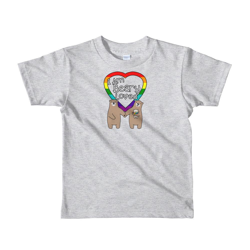 """I am Beary Loved"" LGBTQ+ Inclusive Family Short Sleeve Kids T-shirt (Bowtie)"