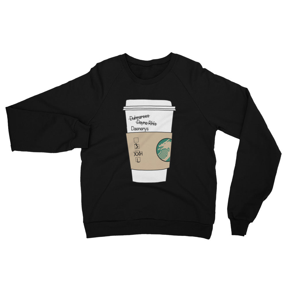 Daenerys Targaryen Starbucks Game of Thrones Unisex Fleece Raglan Sweatshirt
