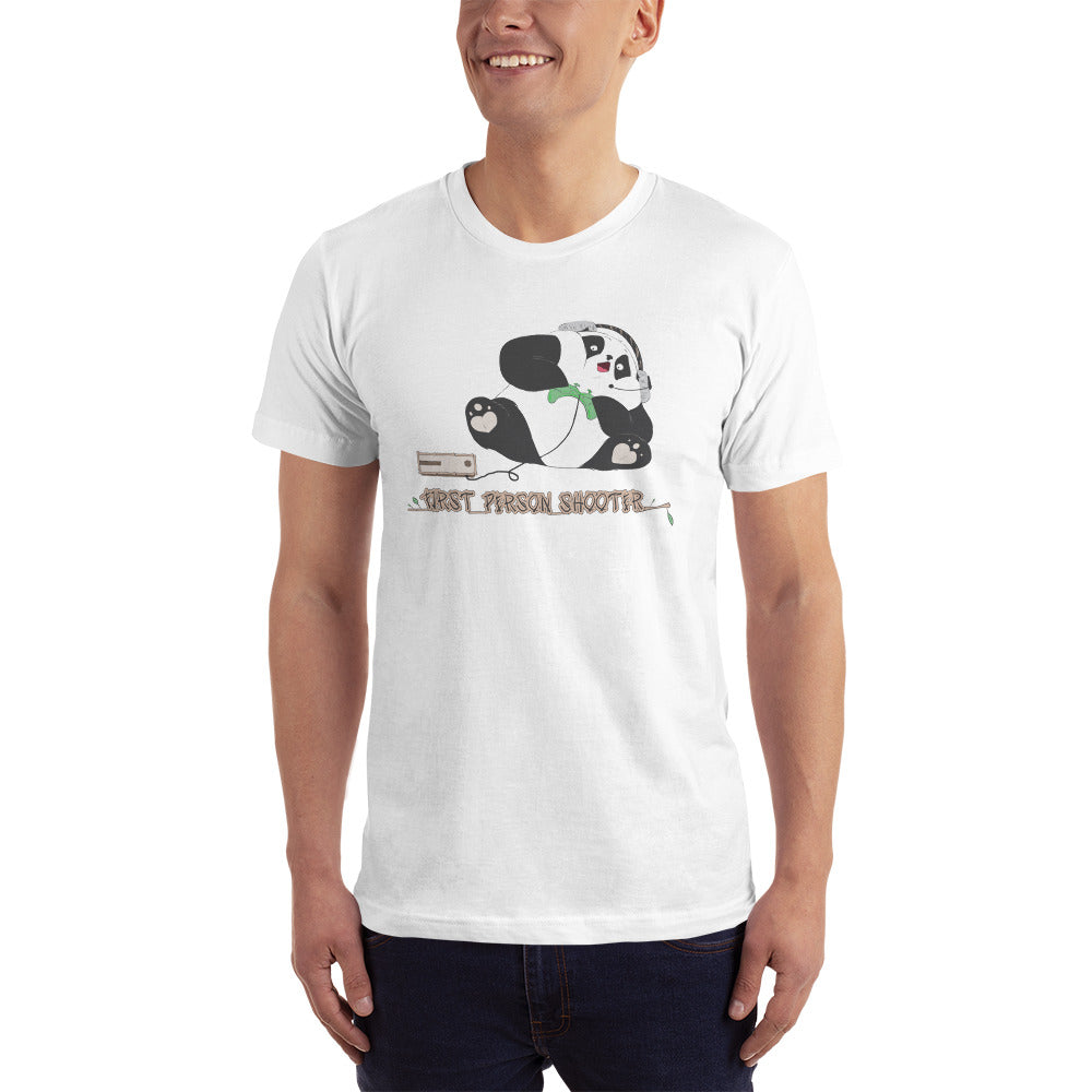 First Person Shooter Cute Panda Gamer Tee