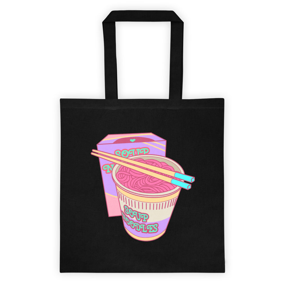 Japanese Retro Cup Noodles Lisa Frank Style Tote Bag