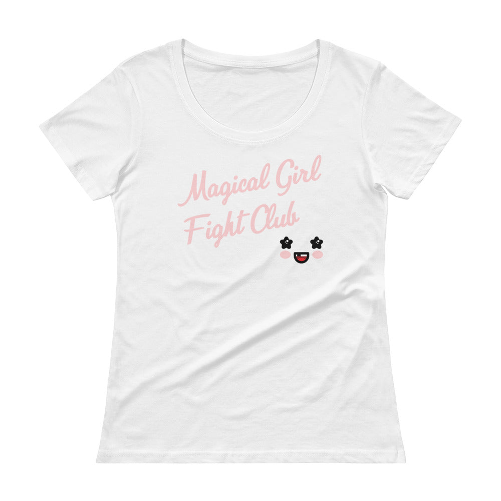 Magical Girl Fight Club Ladies' Scoopneck T-Shirt