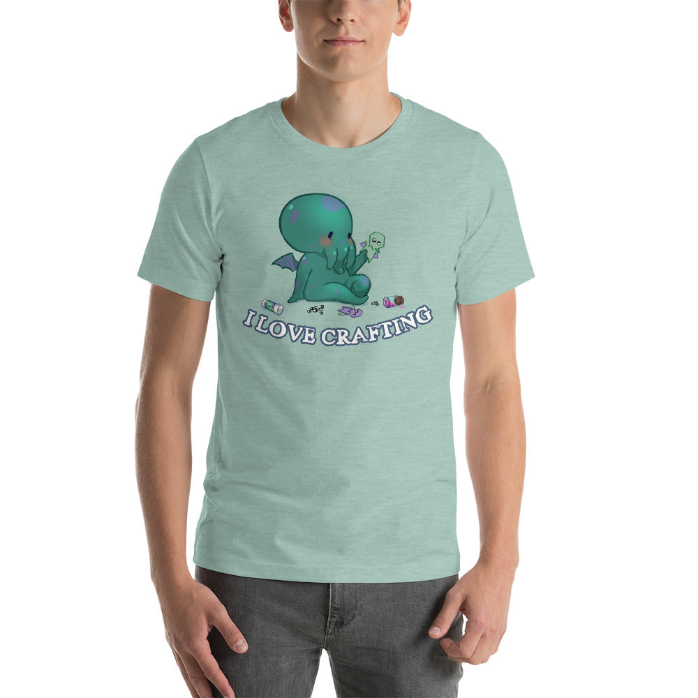 "Cute Cthulhu ""I Love Crafting"" Tee"