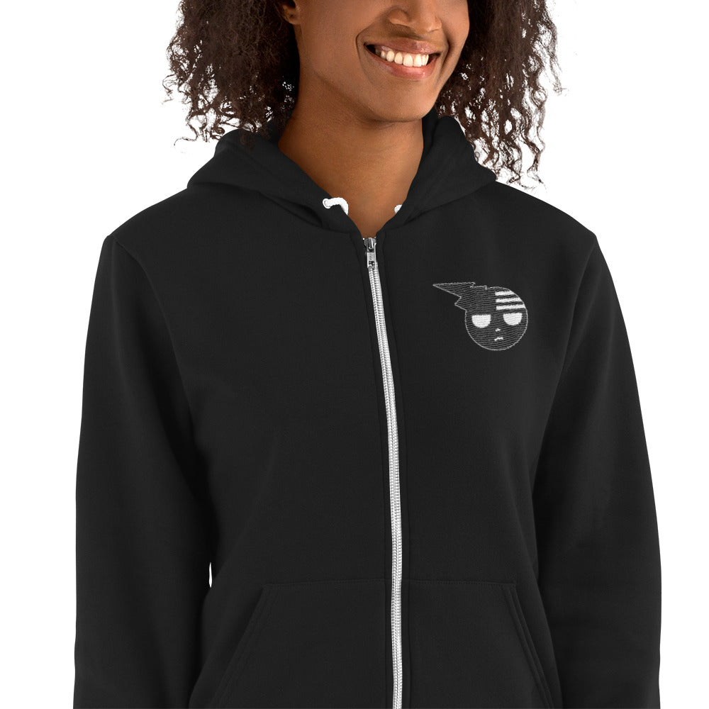 Soul Eater Death the Kid Embroidered Zip Up Hoodie