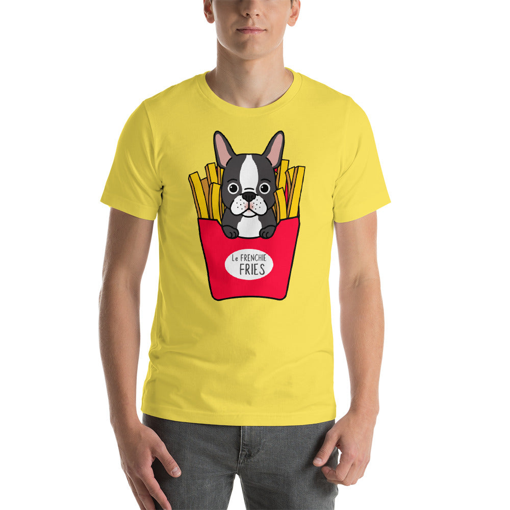 Le Frenchie Fries Cute French Bulldog Tee