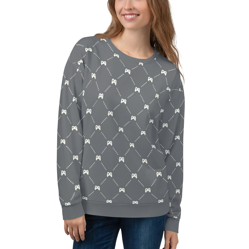 "Video Game Controller ""Quilted"" Pattern Sweatshirt"