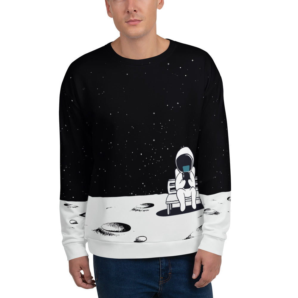 Earth, U Up? Astronaut iPhone Unisex Sweatshirt