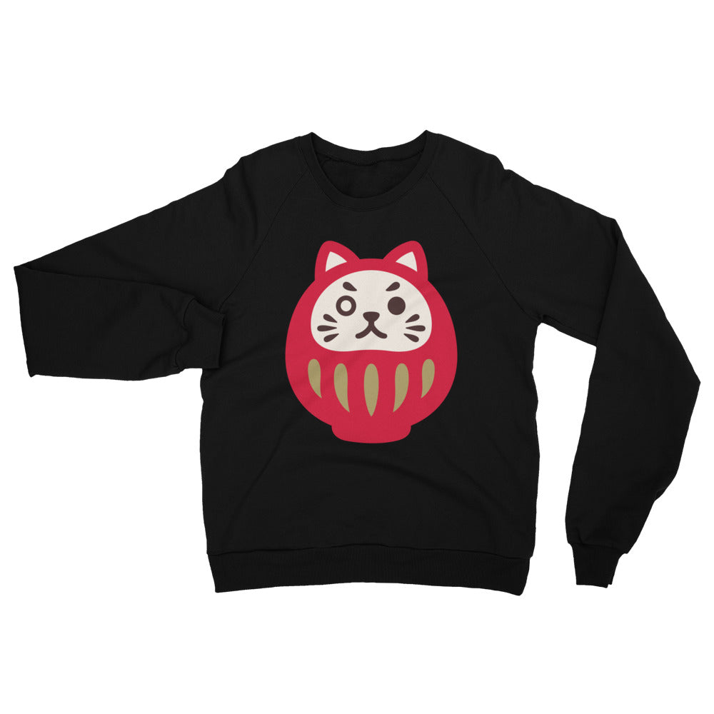 Daruma Motivated Unisex Fleece Raglan Sweatshirt