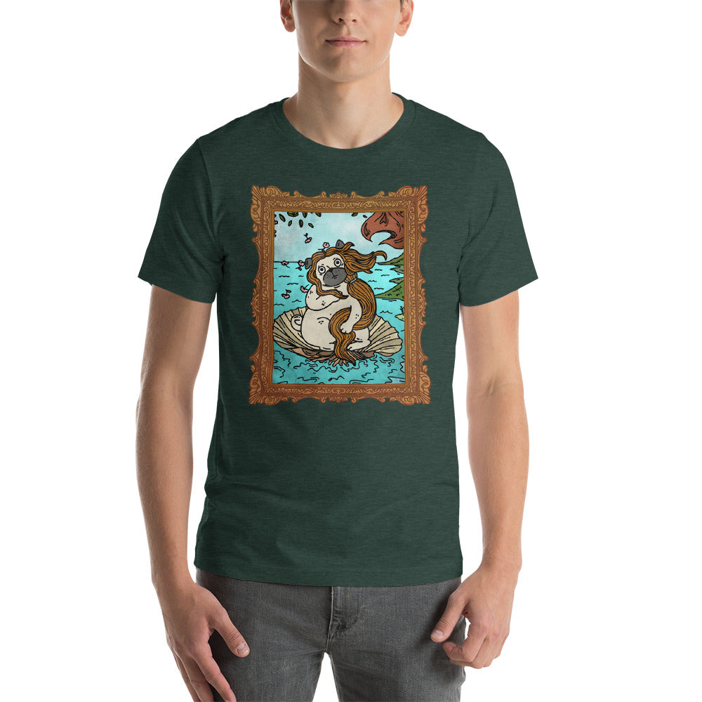 Botticelli's The Birth of Pug-nus, Dog of Love Tee