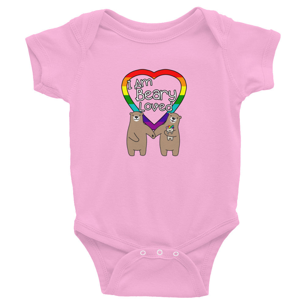 """I Am Beary Loved"" LGBTQ+ Inclusive Family Infant Bodysuit (Hairbow)"