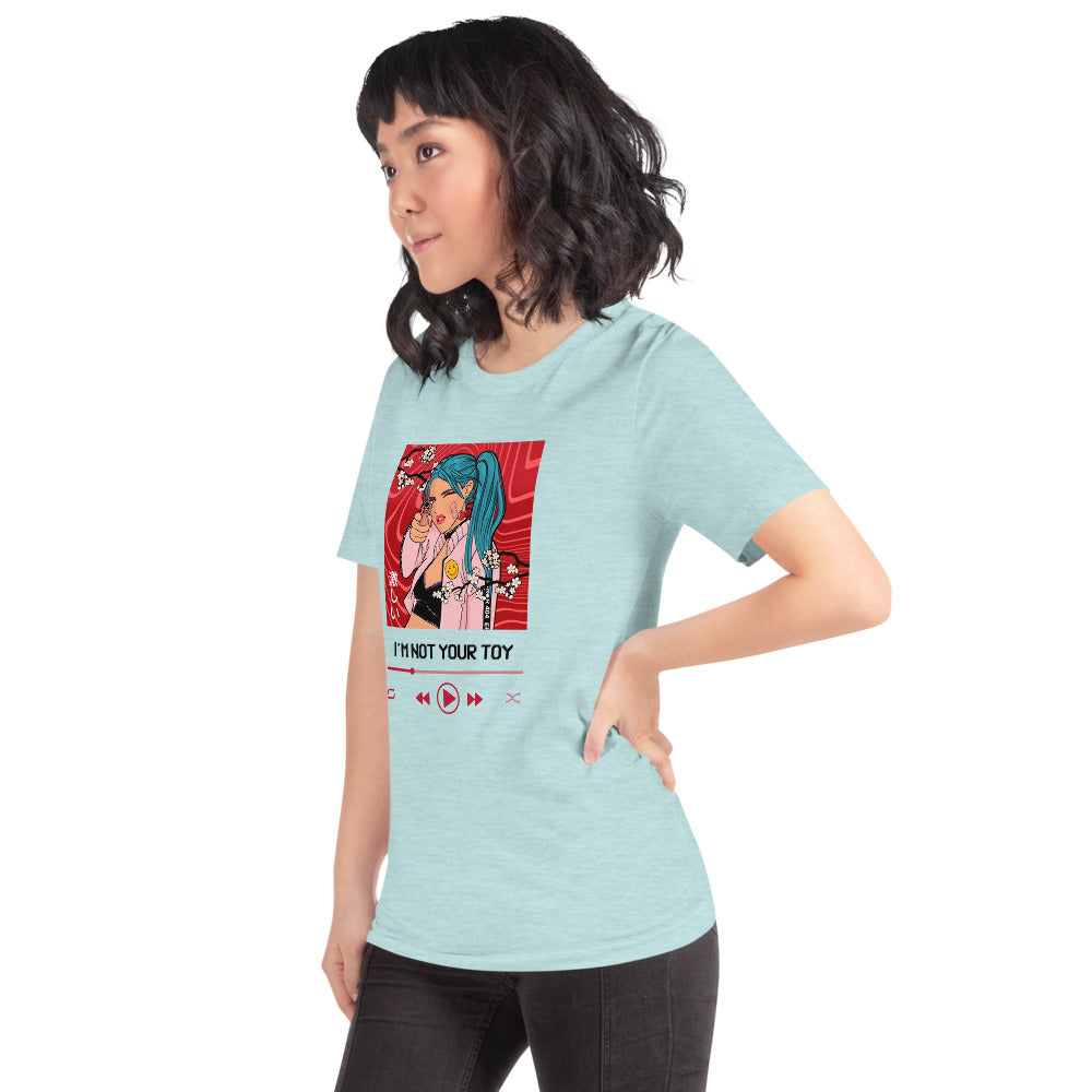 """I'm Not Your Toy"" Kawaii Anime Short-Sleeve Unisex T-Shirt"