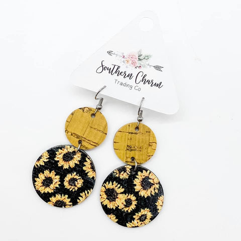 Yellow & Black Sunflower Double Corkies