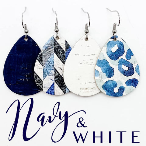 "1.5"" Navy & White Itty Bitty Corkie Mini Collection"