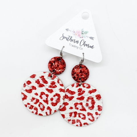 Red Glitter & Red/White Leopard Piggybacks