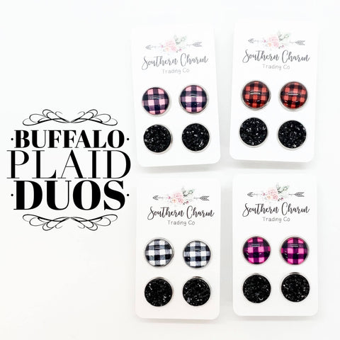 Valentine Buffalo Plaid Duos
