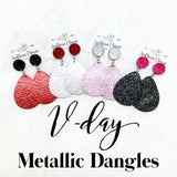 "2"" Valentines Day Metallic Dangles"