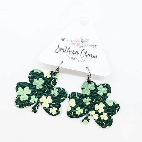 "1.5"" Shamrock Print Shamrock (Leather)"