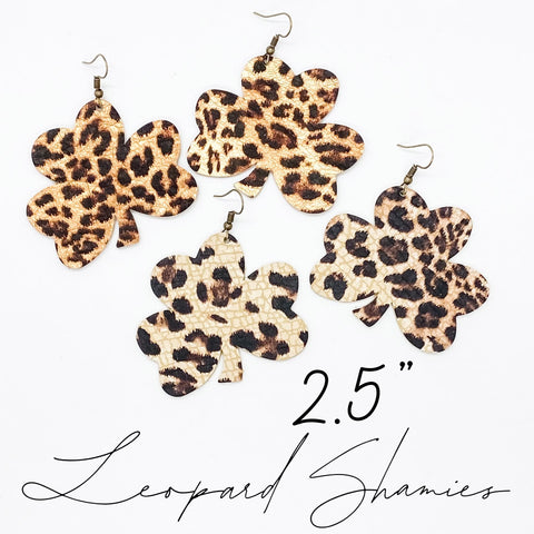 "2.5"" Leopard Shamrocks"