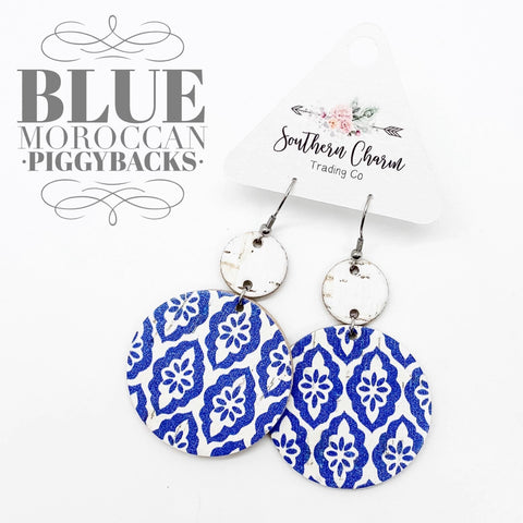 White & Blue Moroccan Piggyback Corkies