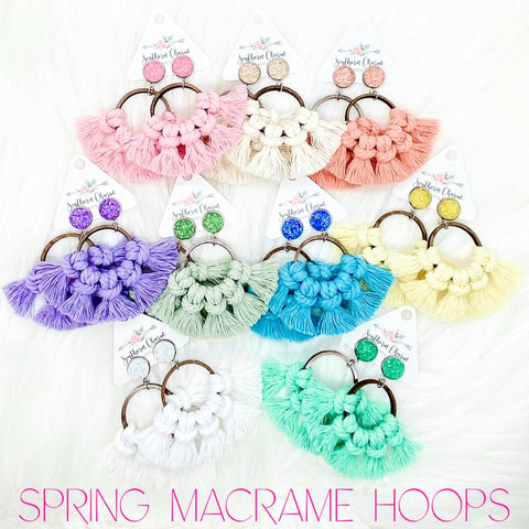 Spring Hoops Collection *SHIPS IN 15 BUSINESS DAYS* SEE DESCRIPTION