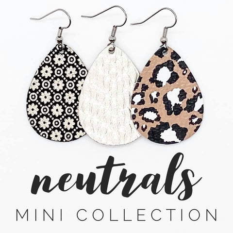 "1.5"" Neutral Mini Collection (leather)"