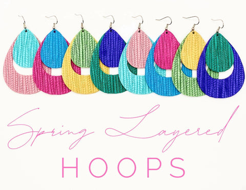 "2.5"" Spring Layered Hoops"