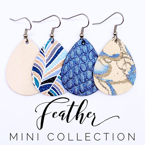 "1.5"" Feather Mini Collecion (leather)"