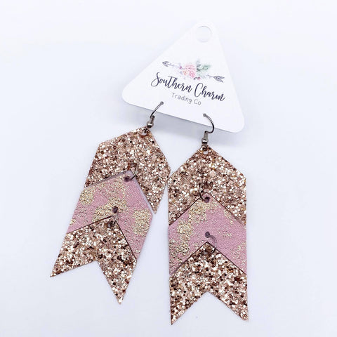 Rose Gold Glitter/Rose Gold Splash/Rose Gold Glitter Triple Arrows