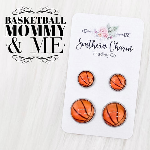 New Basketball Mommy & Me in Stainless Steel Settings