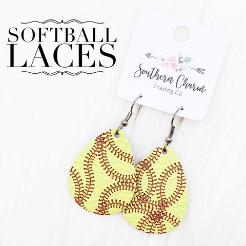 "1.5"" Softball Laces Itty Bitties"