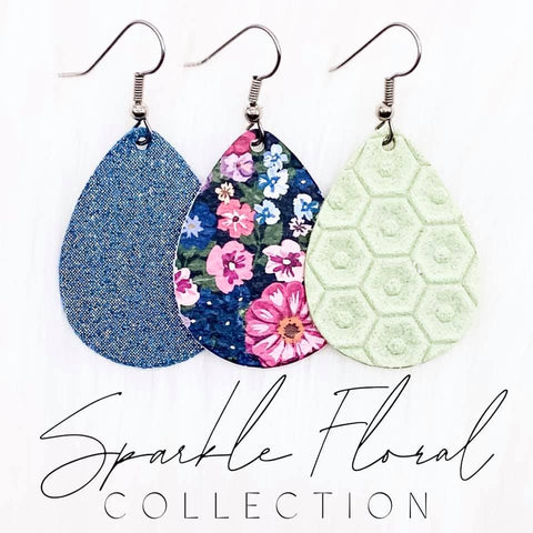 "1.5"" Sparkles Floral Mini Collection (leather)"
