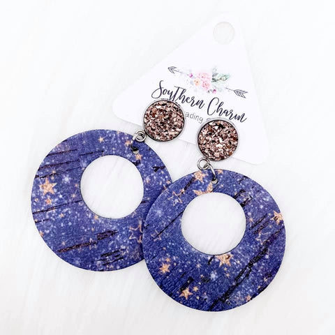 "2.5"" Rose Gold & Blue Galaxy Double O Corkies"