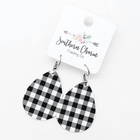 "1.5"" White Buffalo Plaid Itty Bitties"