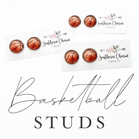 12mm Basketballs in Stainless Steel Settings