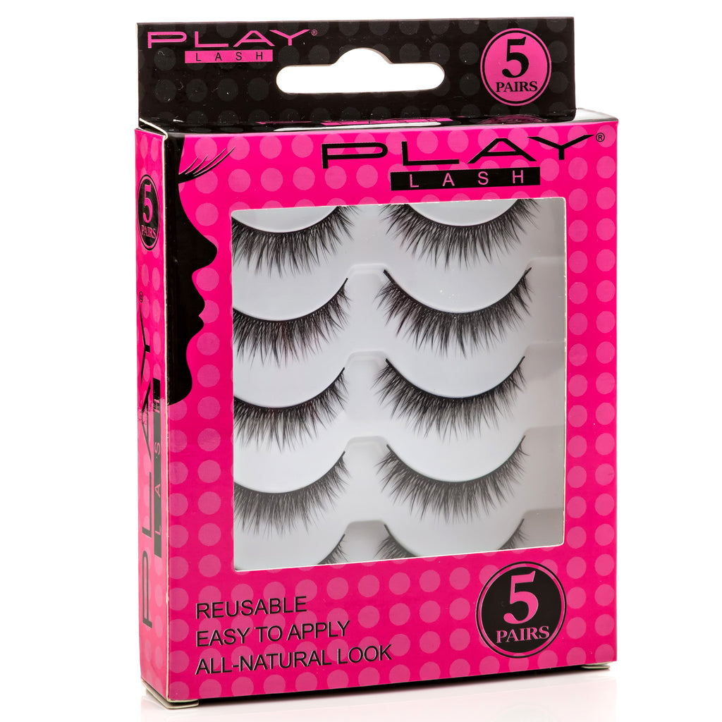 False Eyelashes Set Of 5 Pairs - Style S01 - Play Lashes