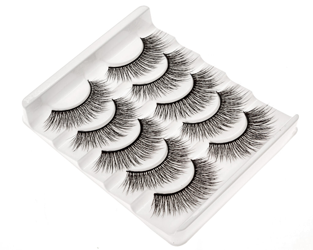 False Eyelashes Set Of 5 Pairs - Style S03 - Play Lashes