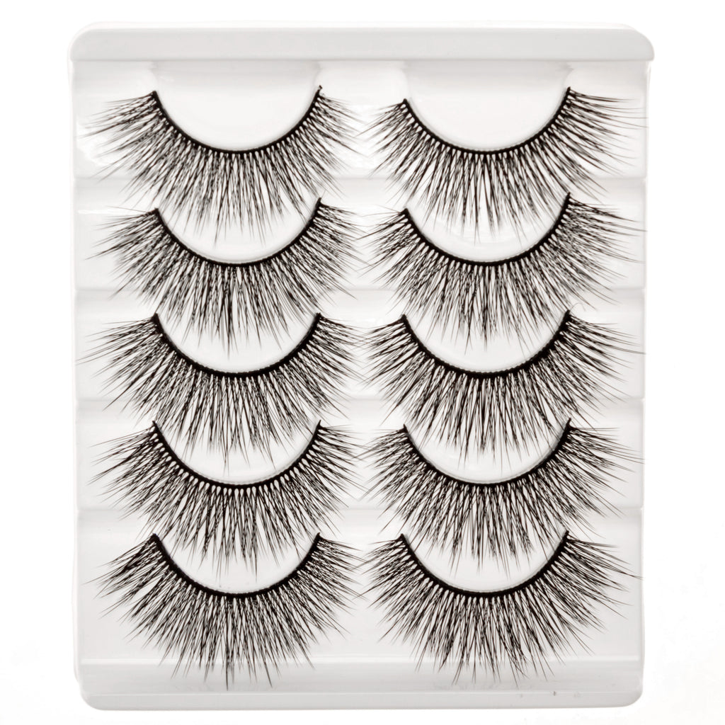 False Eyelashes Set Of 5 Pairs - Style S03