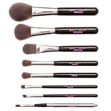 Black 8 Piece Makeup Brush Set With Designer Case - Play Lashes