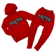Preme Knit Hoodie Jogger Set in Red